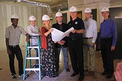 Construction of Montreat College's Black Box Theatre