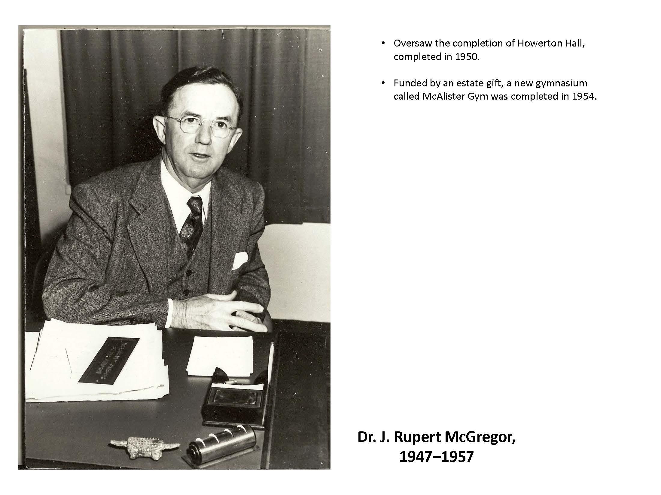 Dr. J. Rupert McGregor