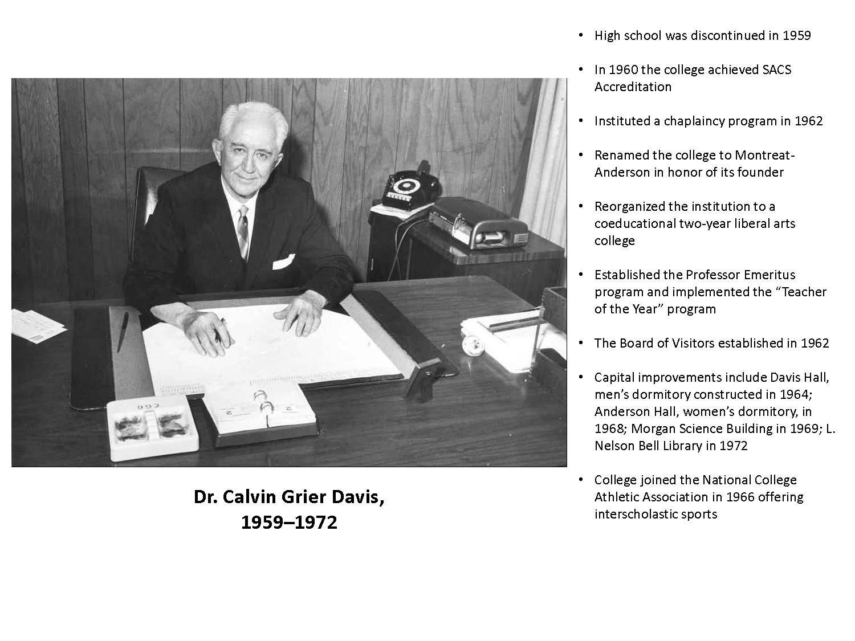 Dr. Calvin Grier Davis