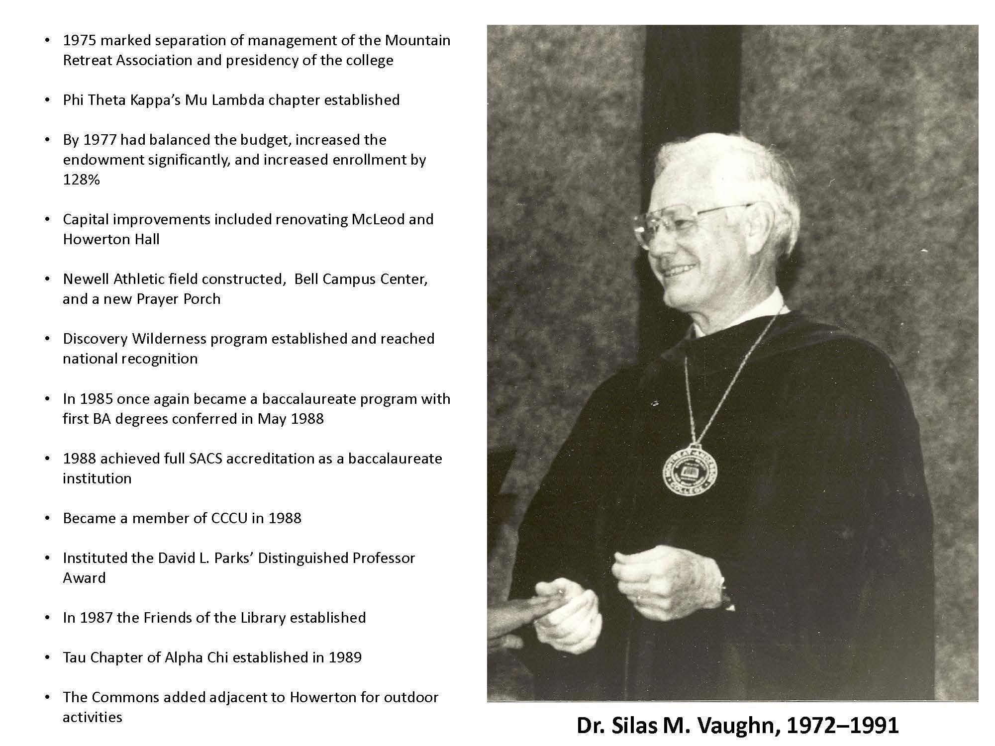 Dr. Silas M. Vaughn