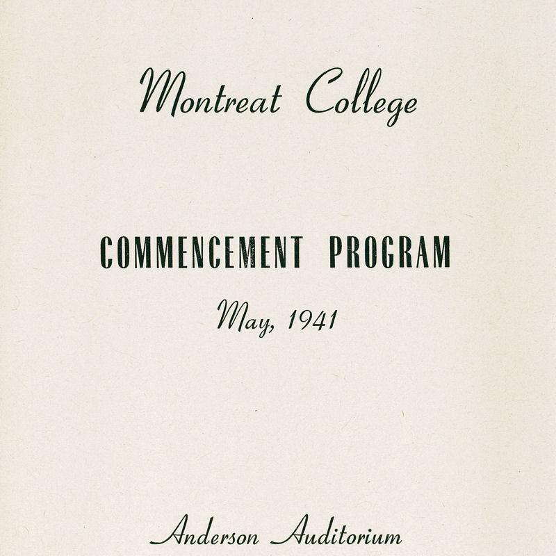 1941 Commencement Program