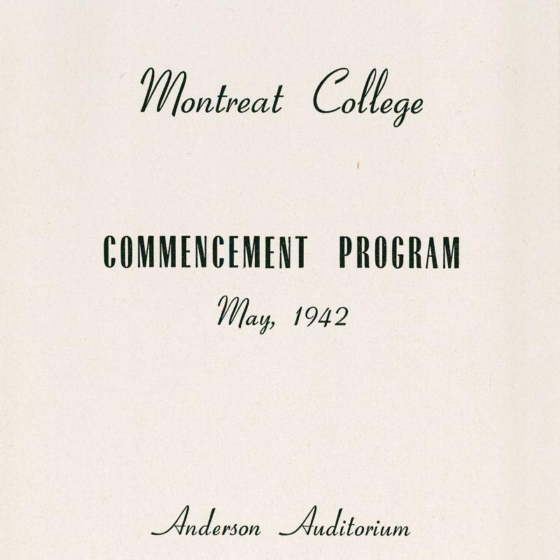1942 Commencement Program