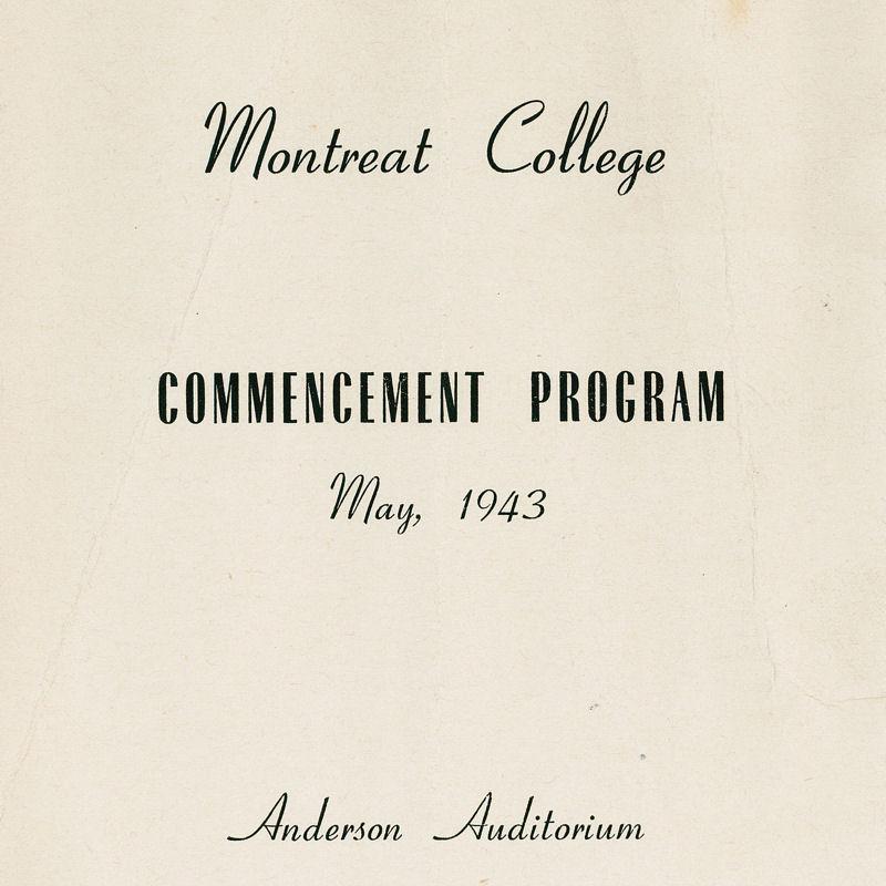 1943 Commencement Program