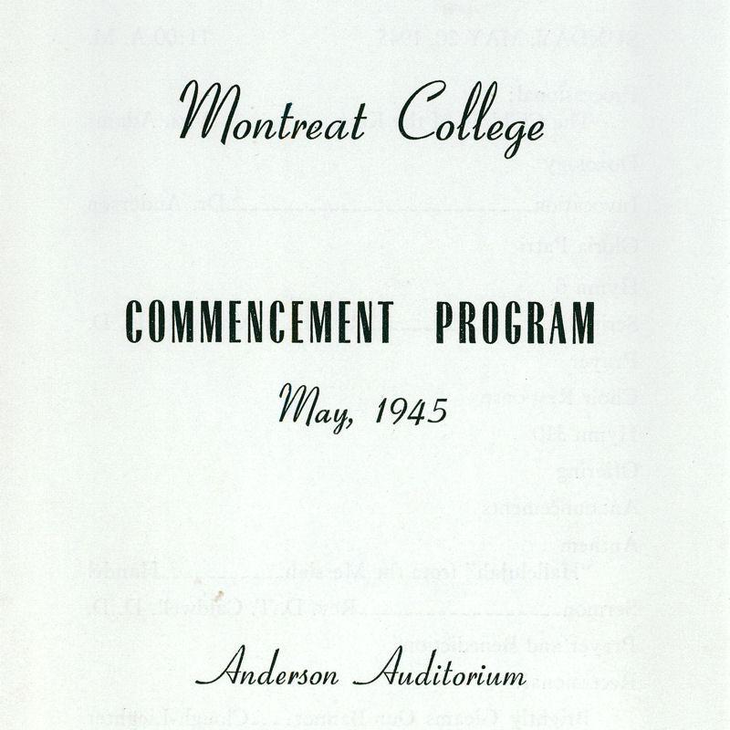 1945 Commencement Program