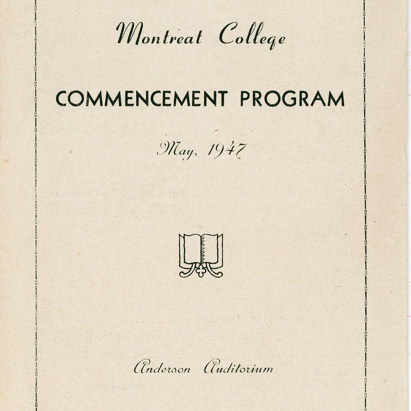 1947 Commencement Program