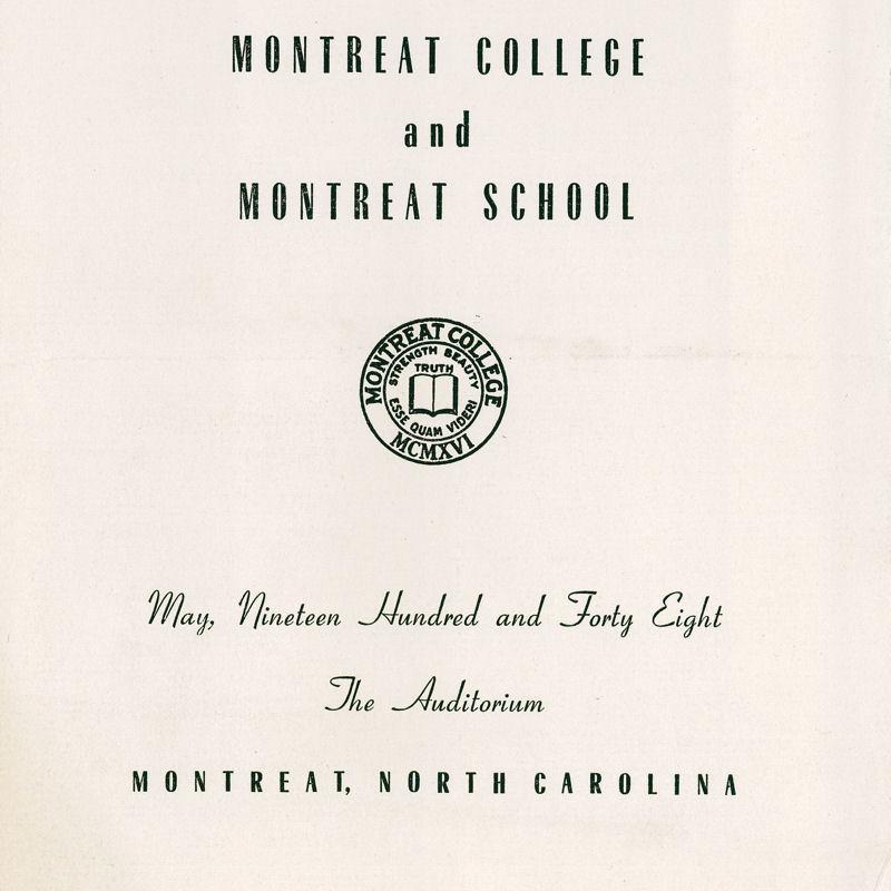 1948 Commencement Program