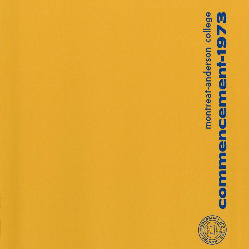 1973 Commencement Program