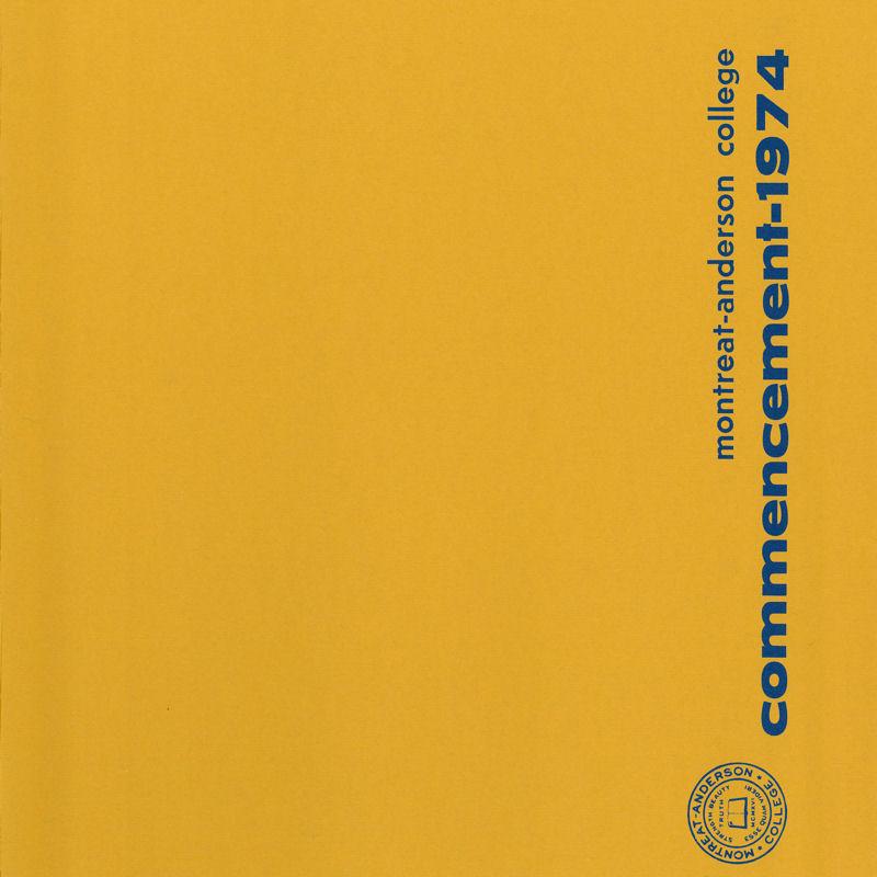 1974 Commencement Program
