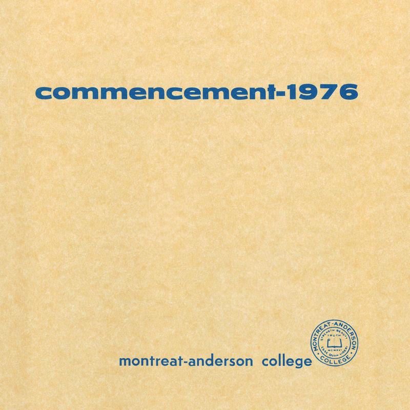 1976 Commencement Program