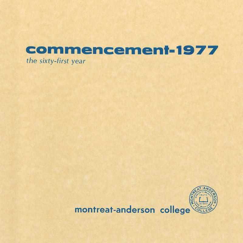 1977 Commencement Program