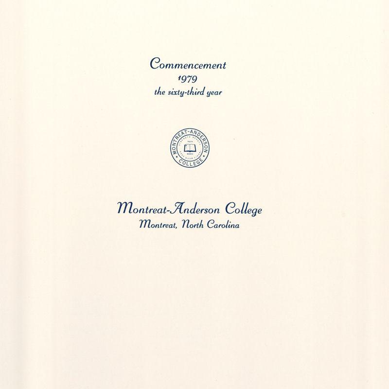 1979 Commencement Program