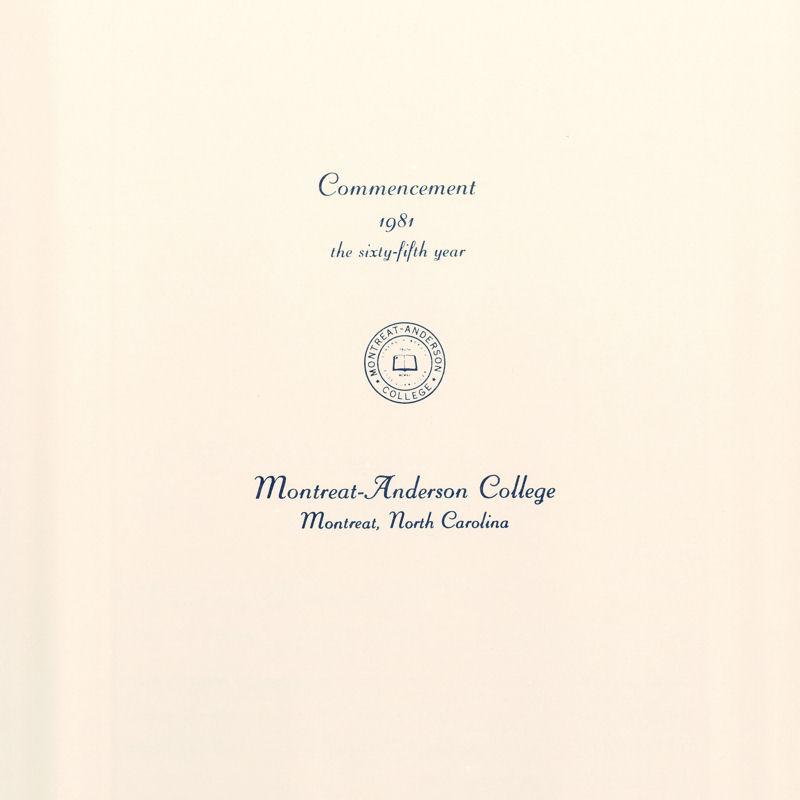 1981 Commencement Program