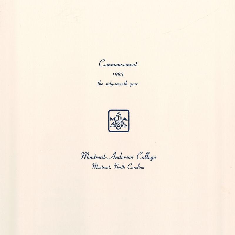 1983 Commencement Program