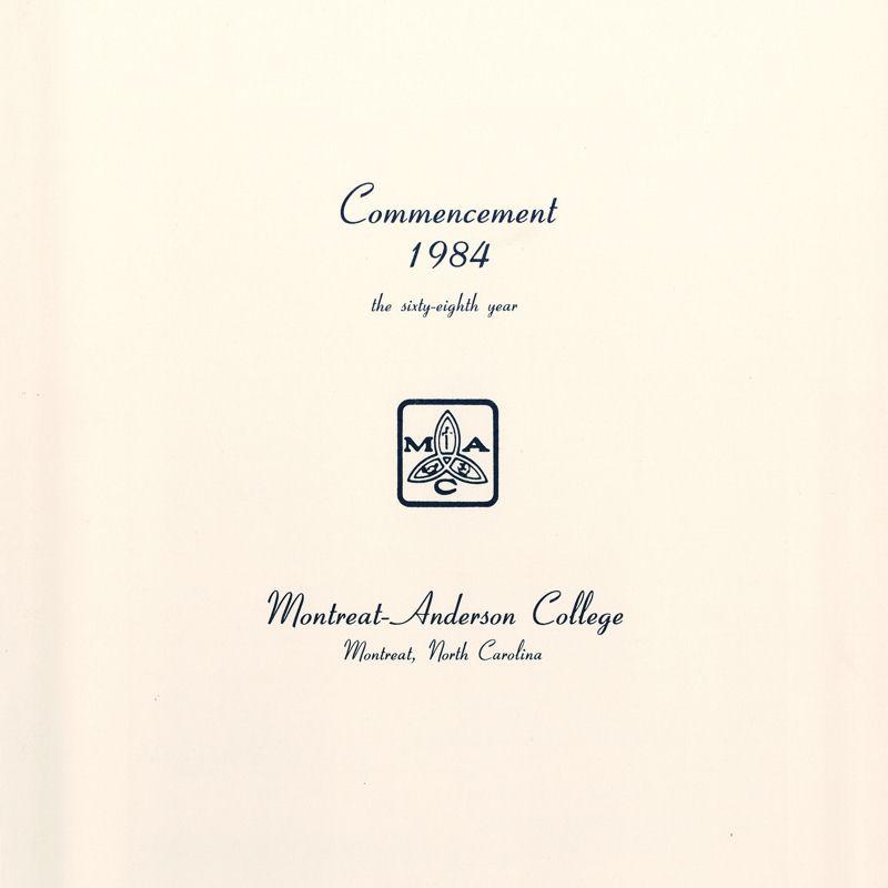 1984 Commencement Program