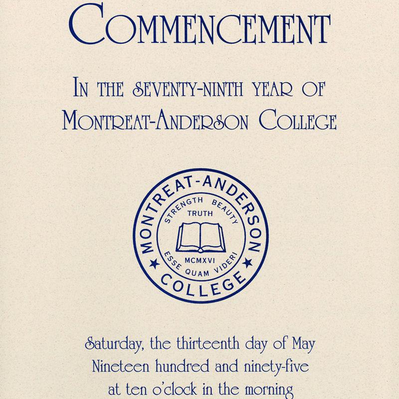1995 Commencement Program