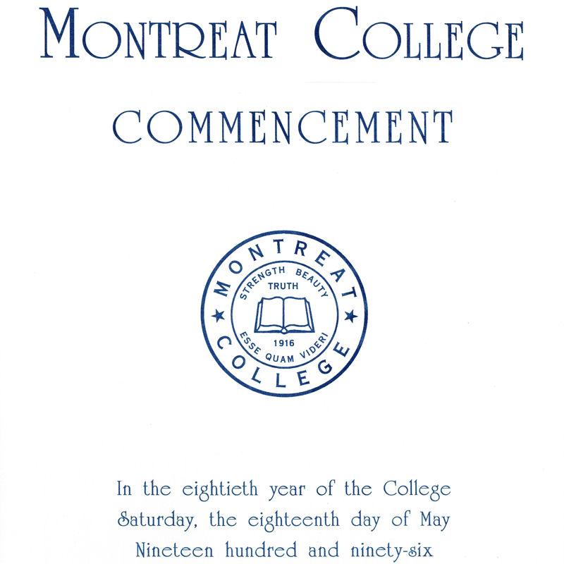 1996 Commencement Program