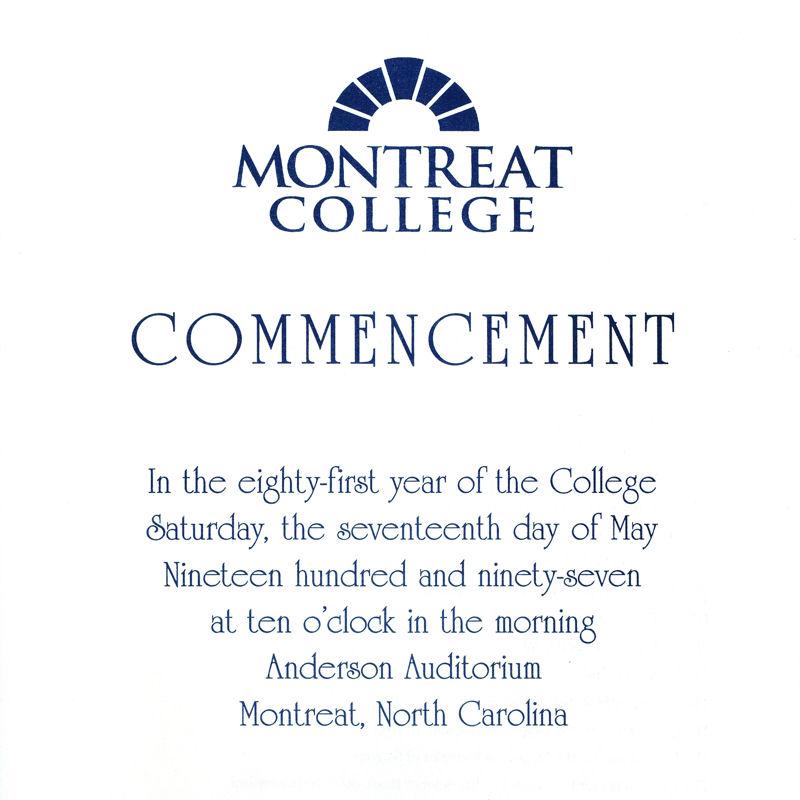 1997 Commencement Program