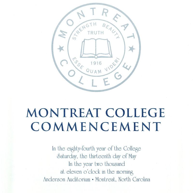 2000 Commencement Program