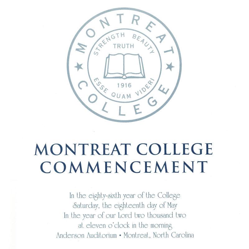 2002 Commencement Program