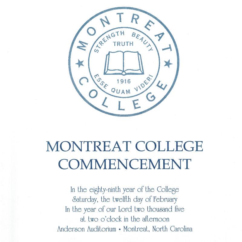 February 2005 Commencement Program