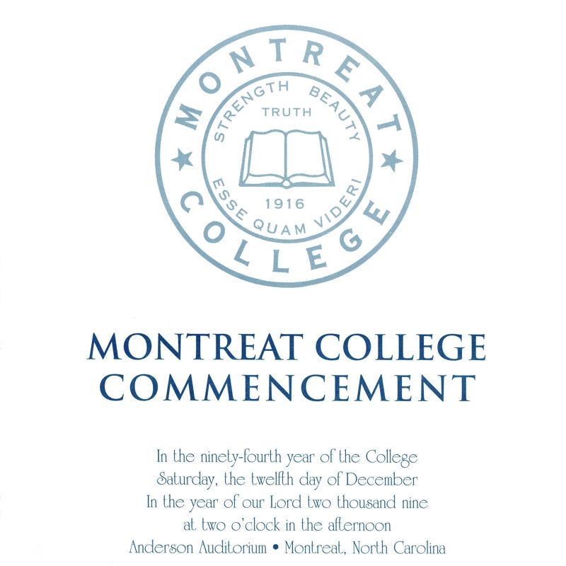 December 2009 Commencement Program
