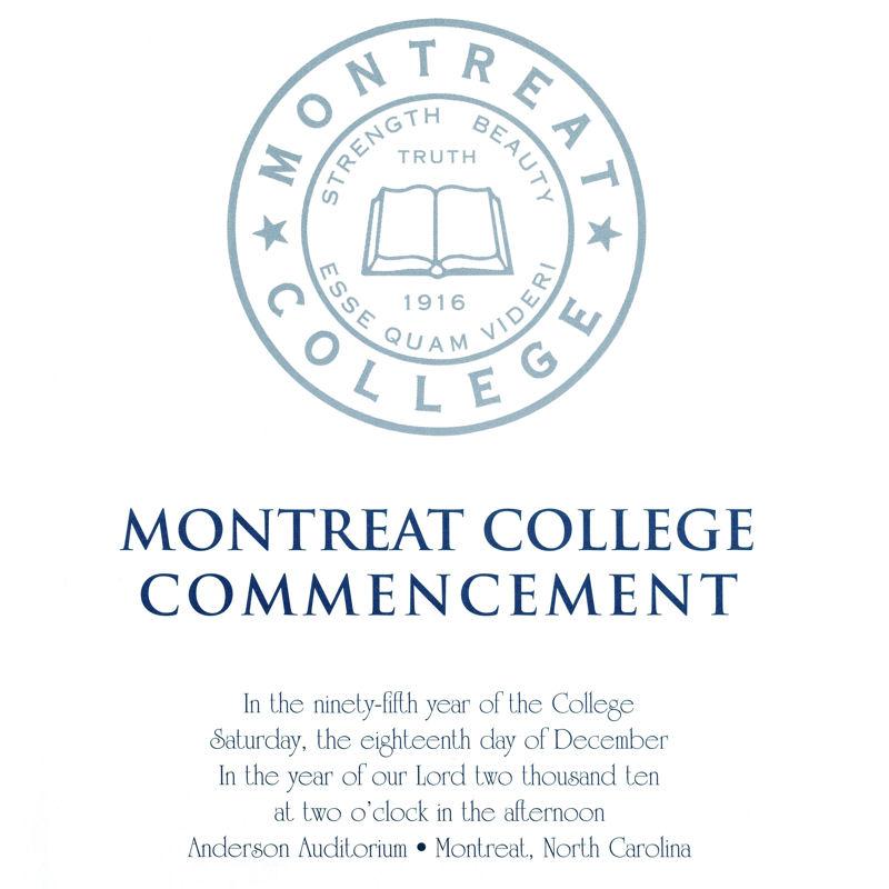 December 2010 Commencement Program