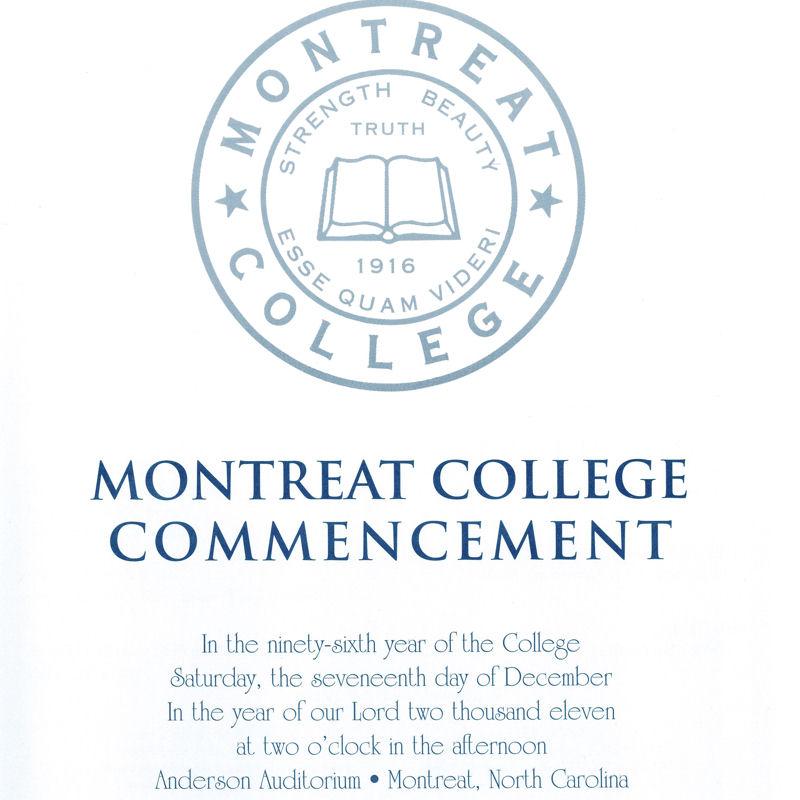 December 2011 Commencement Program