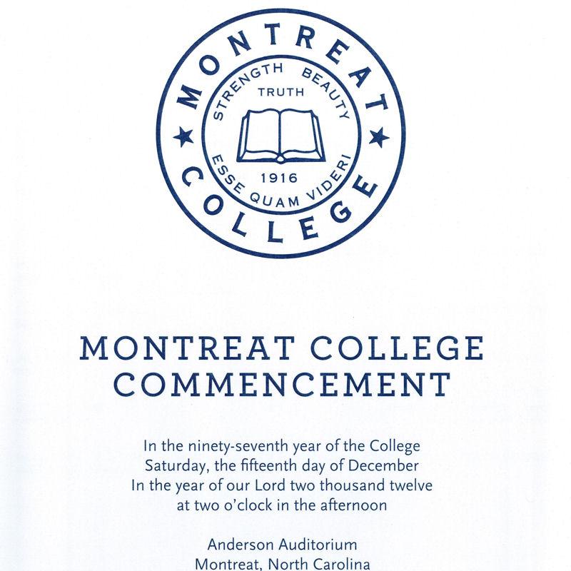 December 2012 Commencement Program