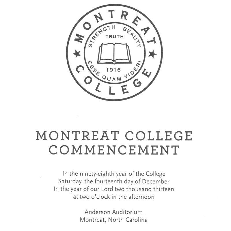 December 2013 Commencement Program
