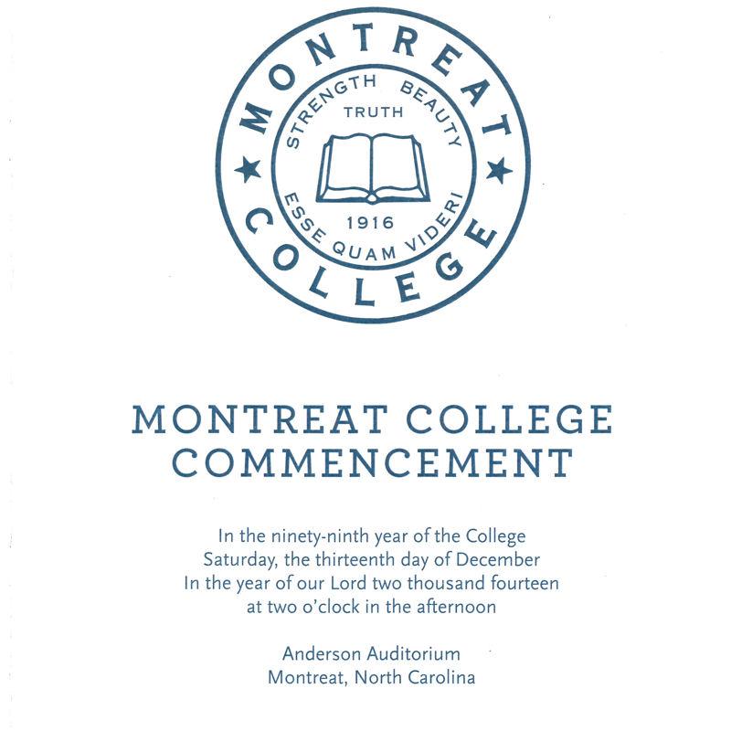 December 2014 Commencement Program