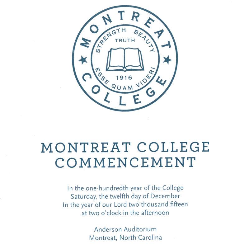 December 2015 Commencement Program
