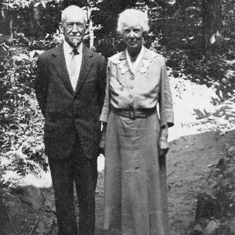 Crosby and Juliette Adams on their Golden Wedding Anniversary
