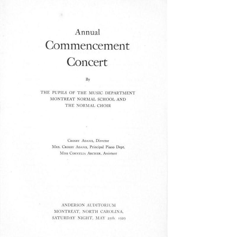Annual Commencement Concert Program