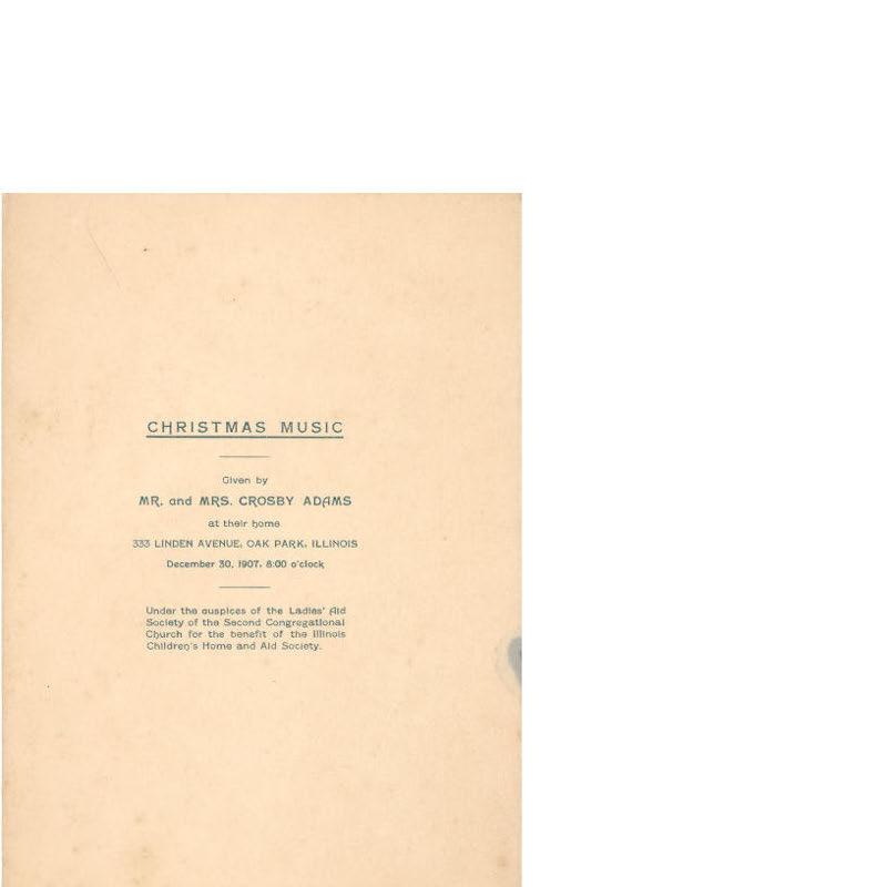 Christmas Music Program, 1907