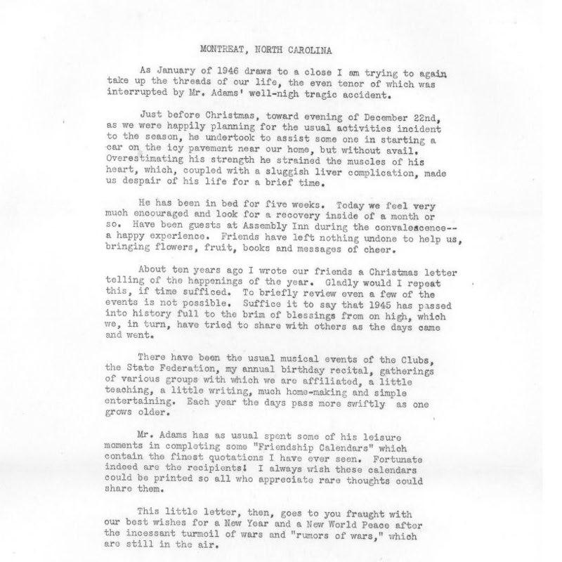 Correspondence of Mrs. Crosby Adams