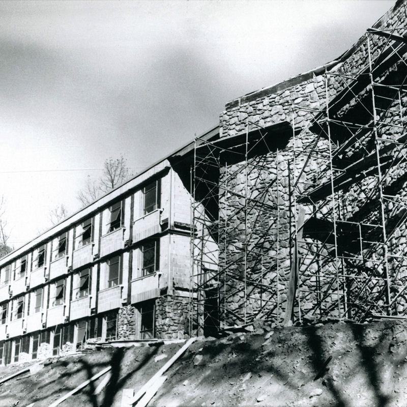 Construction of Davis Hall