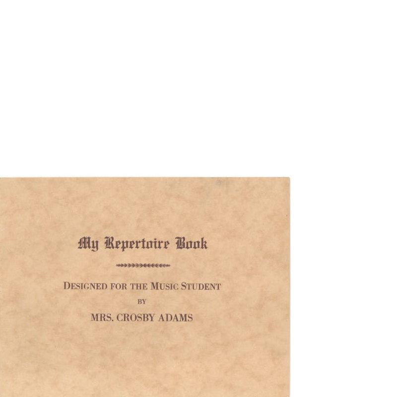 My Repertoire Book