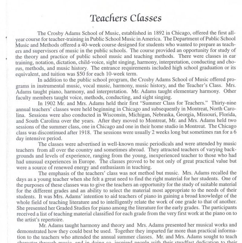 Teachers Classes
