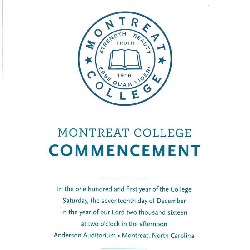 December 2016 Commencement Program