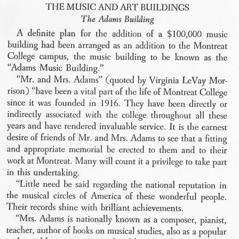 Crosby Adams Music Building