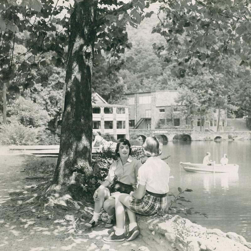 Montreat Students at Lake Susan