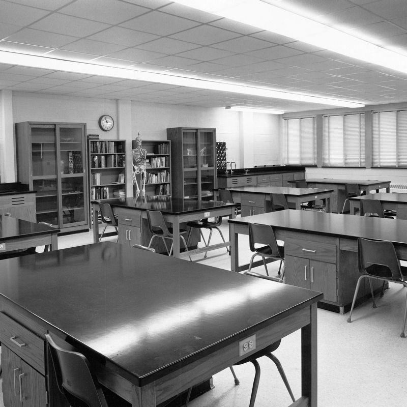 Classroom inside Morgan Science Building