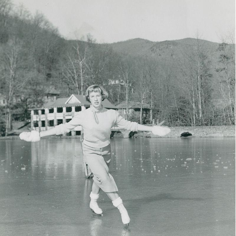 Skating on Lake Susan