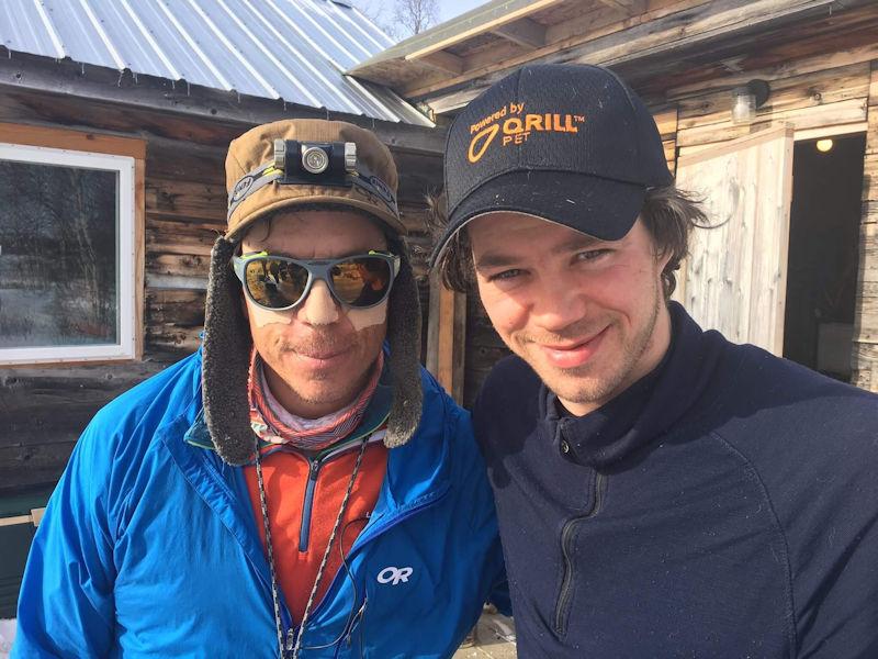 Peter with 2018 Iditarod sled dog race champion Joar Leifseth Ulsom